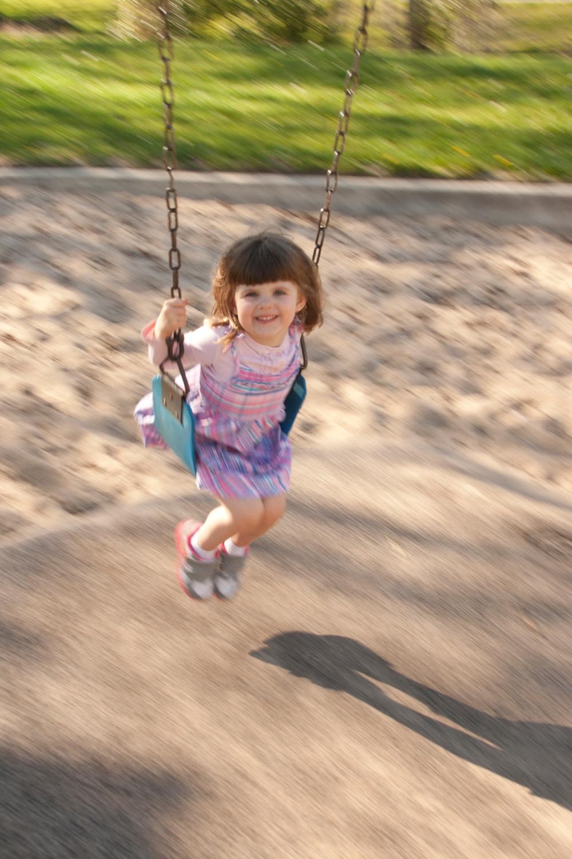 Sarah on the Swing