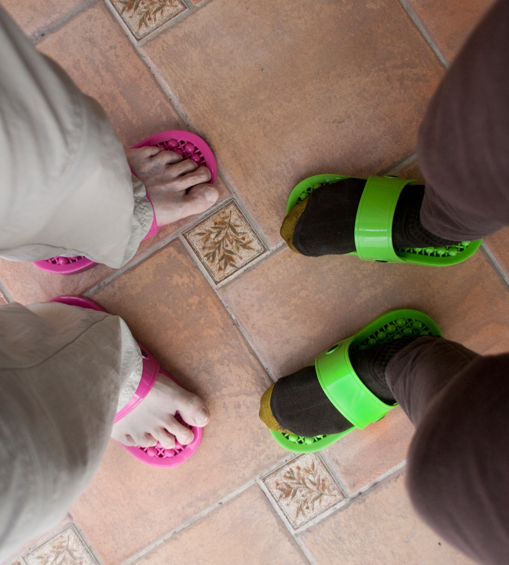 Brightly Colored Slippers