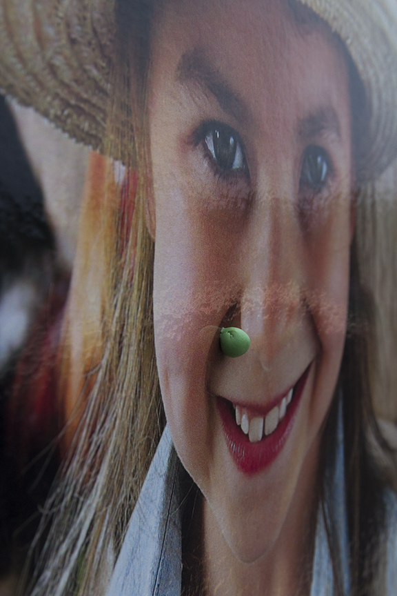 Gum on Child's Face