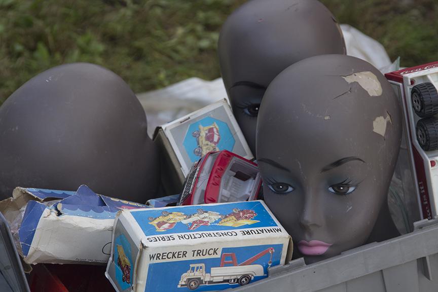 Headless Mannequins Waiting for the Wrecker