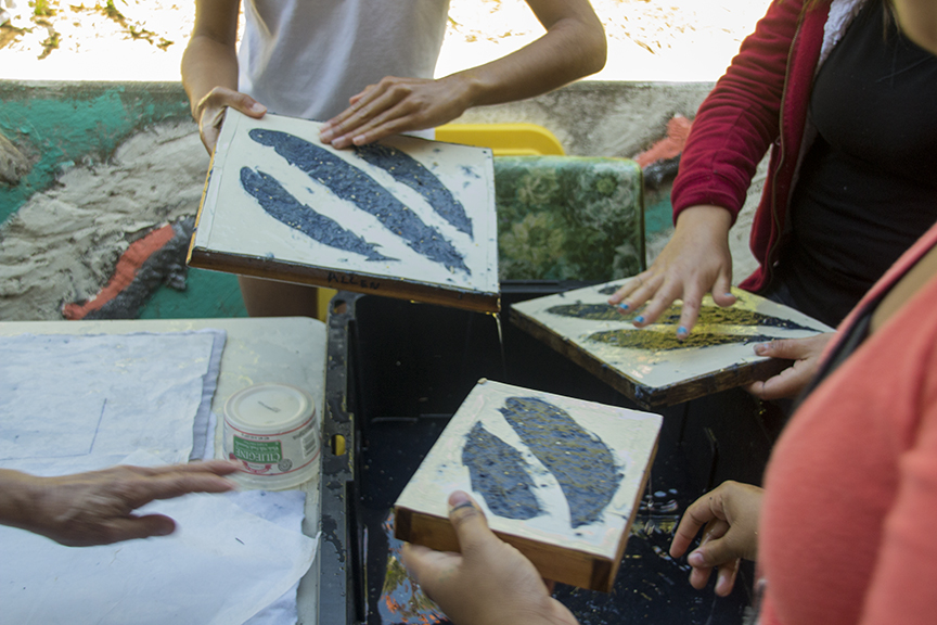 Making Many Feathers With Many Hands