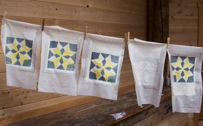Handmade paper quilting image