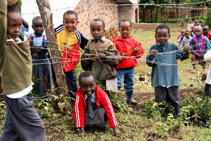 Tanzania - School Children Near Arusha