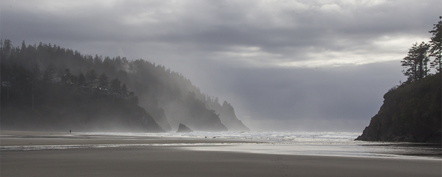 Hawk Creek Inlet at Neskowin Oregon