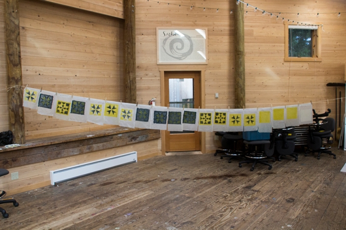Hex pattern paper drying