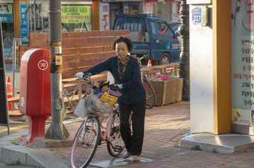 Korean Women on Bike