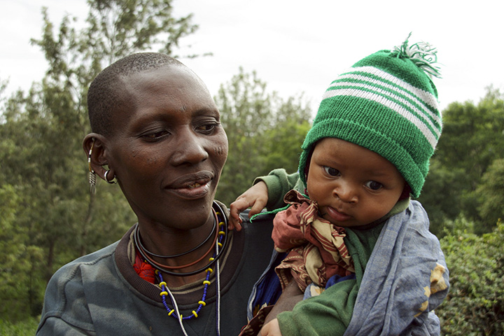 Tanzania - Masai Mother and her Baby