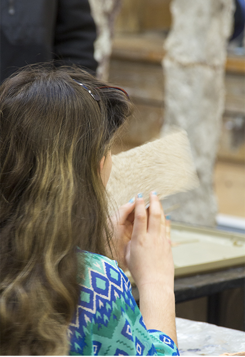 Checking Out the Handmade Paper