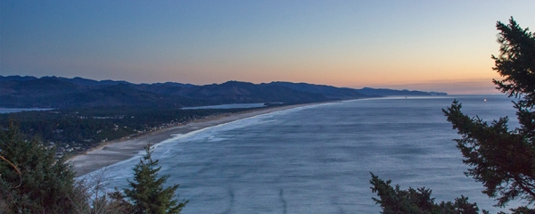 Oregon Coast after sunset