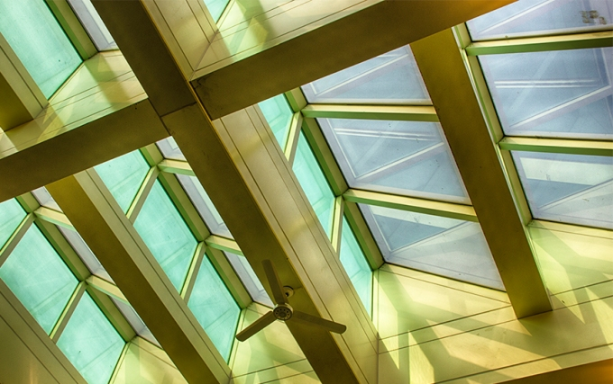 ceiling windows-library on 4th floor