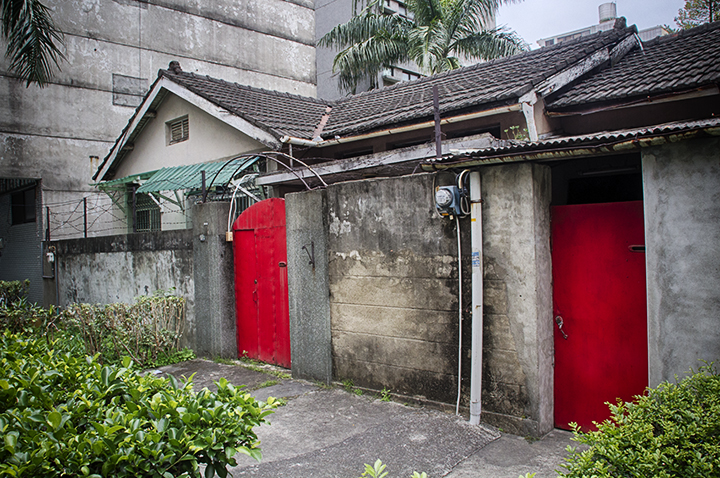 Japanese House with Red Doors