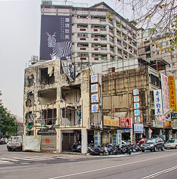 Taichung-Destroyed building