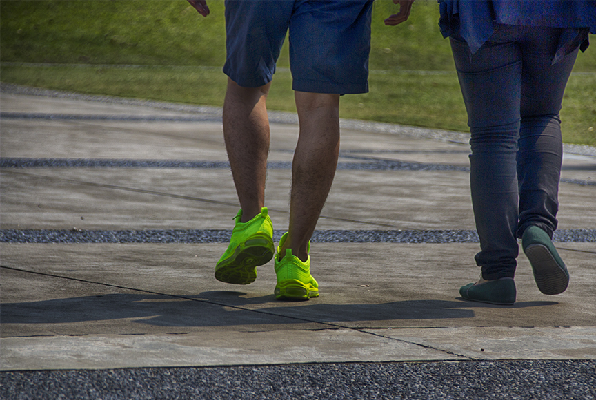 Neon Green Shoes