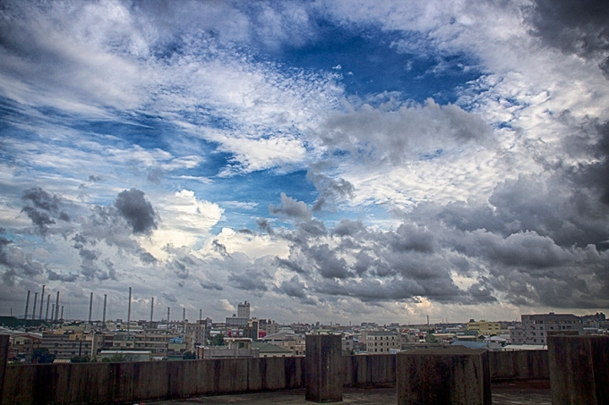 clouds over Tainan