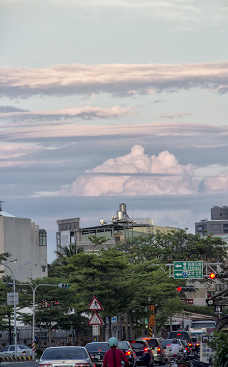 color skies above Tainan