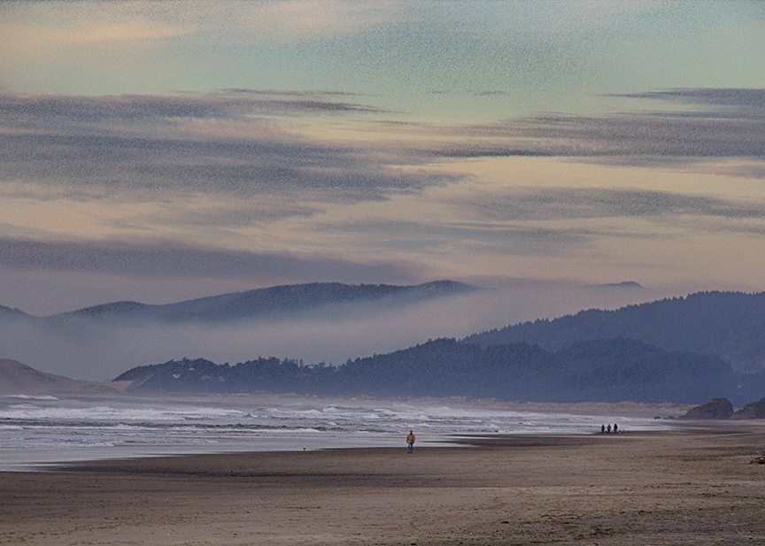 Dusk at Neskowin Beach, Oregon
