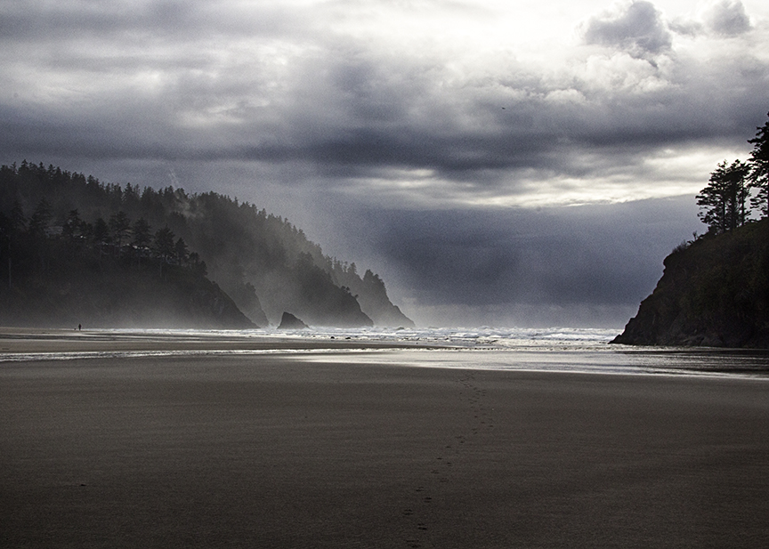 Rain on Neskowin Beach, Oregon