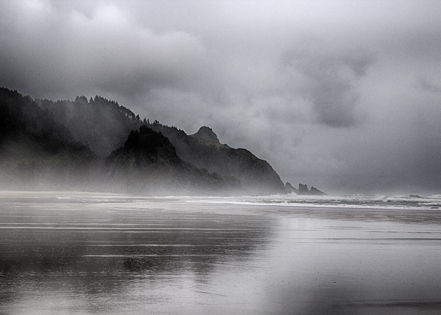 Rain on the Salmon River Spit, Oregon