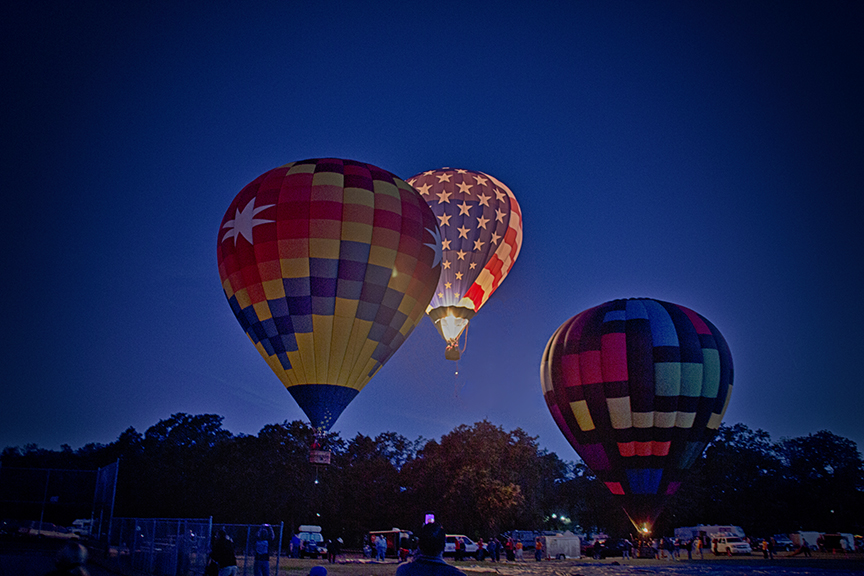 Air Balloons Taking Off from Sonoma County Air Balloon Classic, 2014
