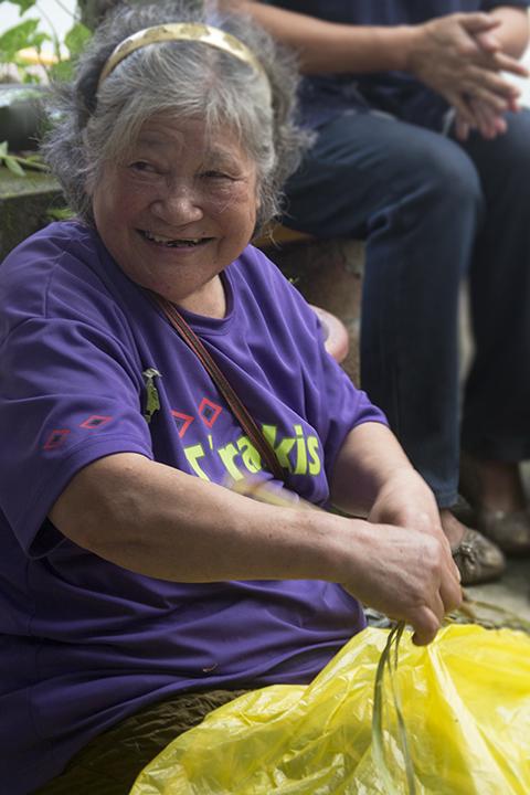 Atayal grandmother preparing romie