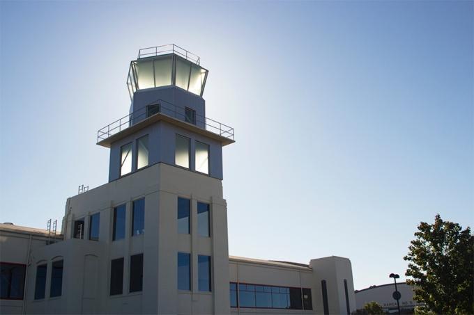 Hamilton Army Airbase Control Tower, Novato, California.  http://en.wikipedia.org/wiki/Hamilton_Army_Airfield