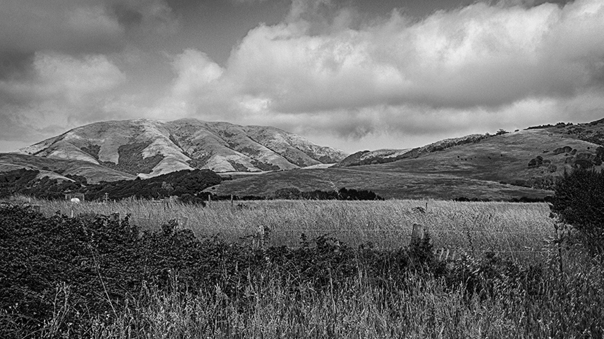 B&W Pano Looking East from Point Reyes