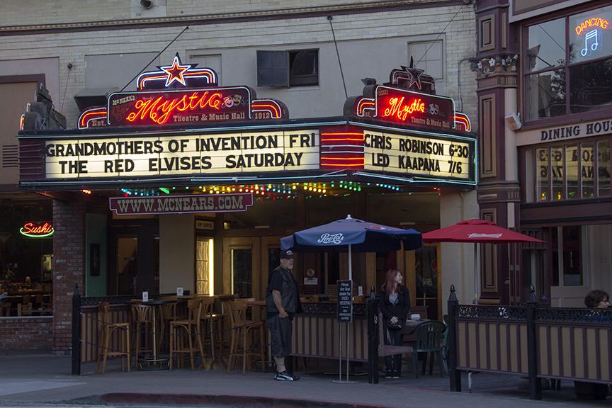 Mystic Theater Marquee Petaluma, California