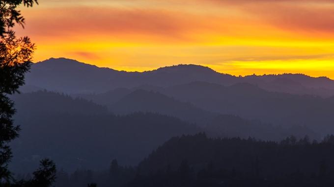 Sunset Before the 4th of July Fireworks, Healdsburg, California
