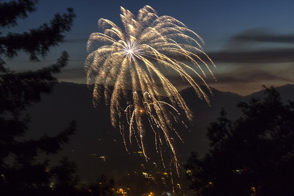 golden fireworks