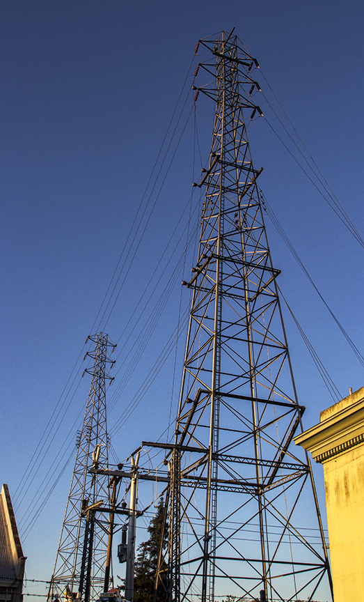 Petaluma PG&E Sub-Station at Sunset