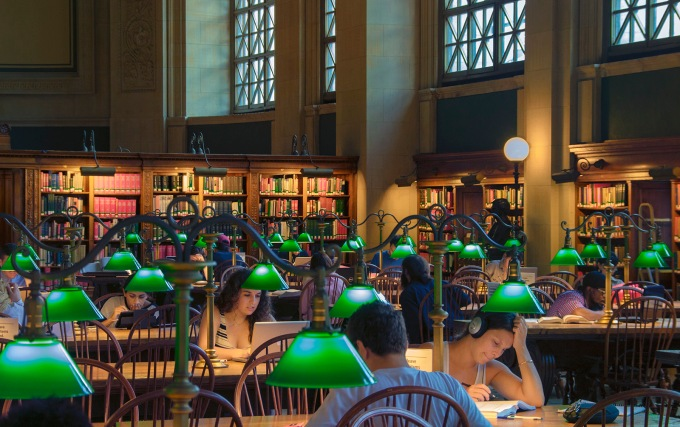 Boston Library Reading Room, 2014