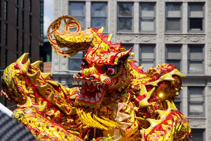 Dragon Dance at Chinese Celebration, Boston, MA, USA, 2014