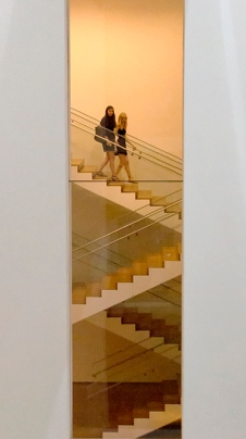 "Color Version of the Previous Post, Homage to Duchamp, ""Nude Descending a Staircase"" MOMA, NYC, 2014"