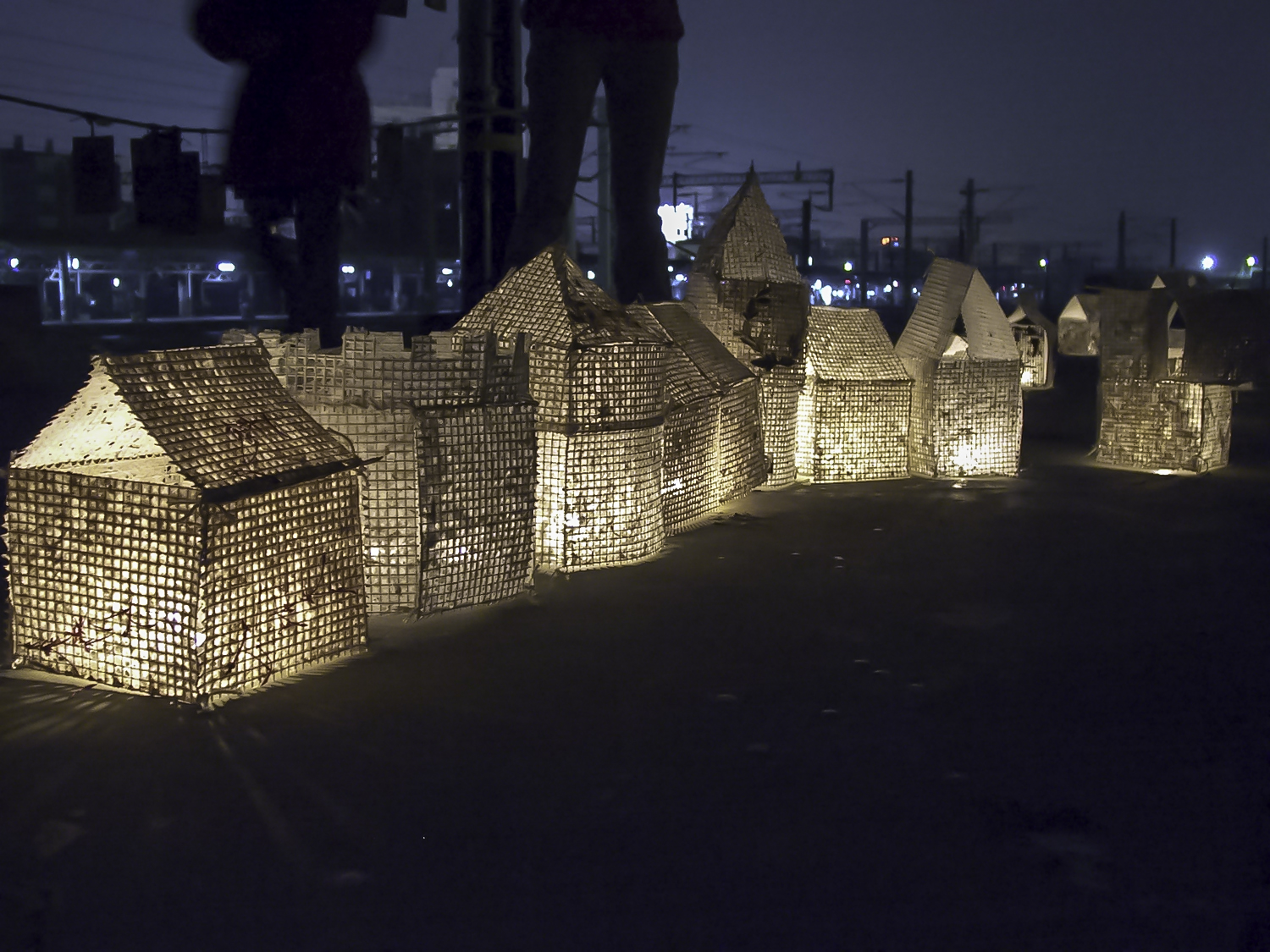 Hand Dipped Paper Houses for a Project Led By Jane Ingram Allen, While a Fulbright Scholar in Taiwan.