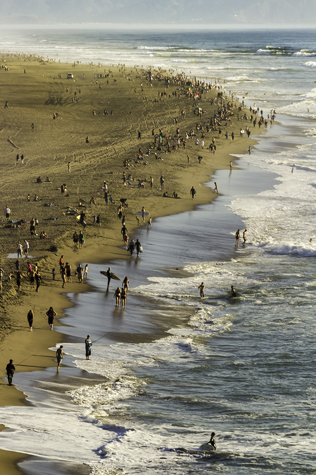 San Francisco Beach. Photographed from Sea Cliff, 2014