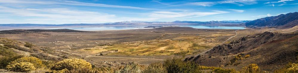 Overlooking Mono Lake from highway US 395.
