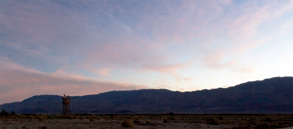 Sunrise over the National Manzanar Historic Site. Manzanar War Relocation Center for Japanese-Americans and Japanese Residing in America. Ten Thousand Were Interned Following the Japanese Attack on Pearl Harbor. http://www.nps.gov/manz/index.htm