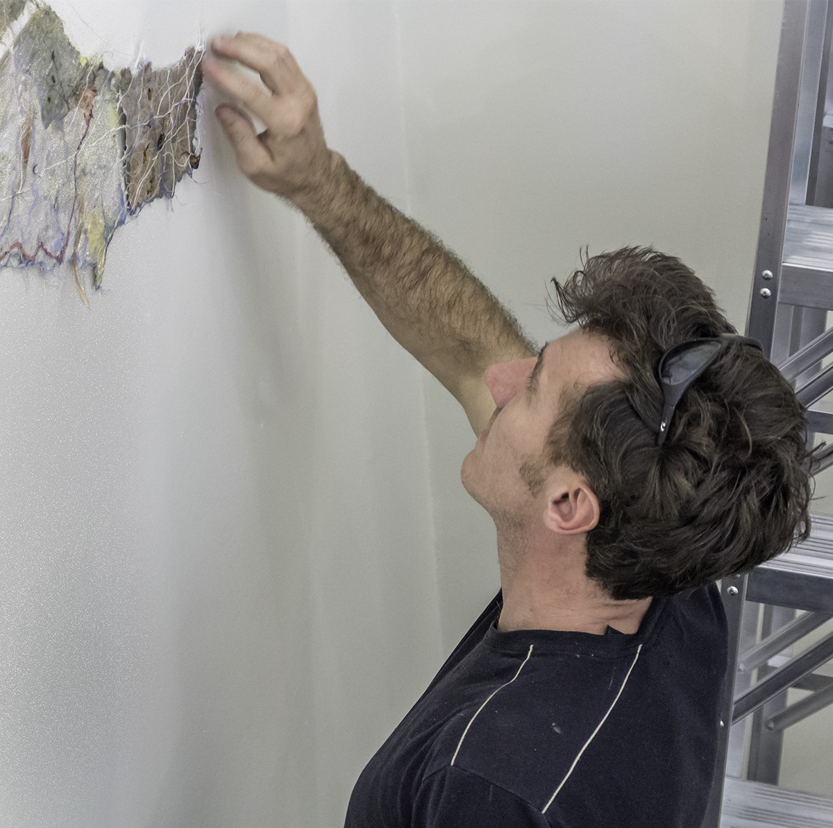 """In preparation for """"Transitions"""" an art exhibit from January 21 to May 15, 2015.  Monday - Friday. Opening Wednesday, January 21 from 4:30 - 6:30pm. at the Marin Community Foundation, 5 Hamilton Landing, Suite 200, Novato, CA"""