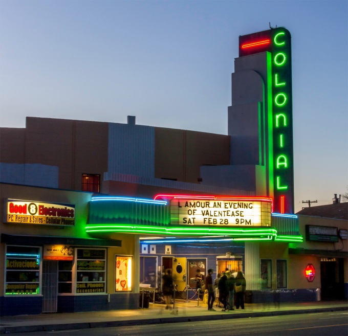 Colonial Theater, Sacramento, CA, February 2015, http://colonialtheatre.biz/home.html