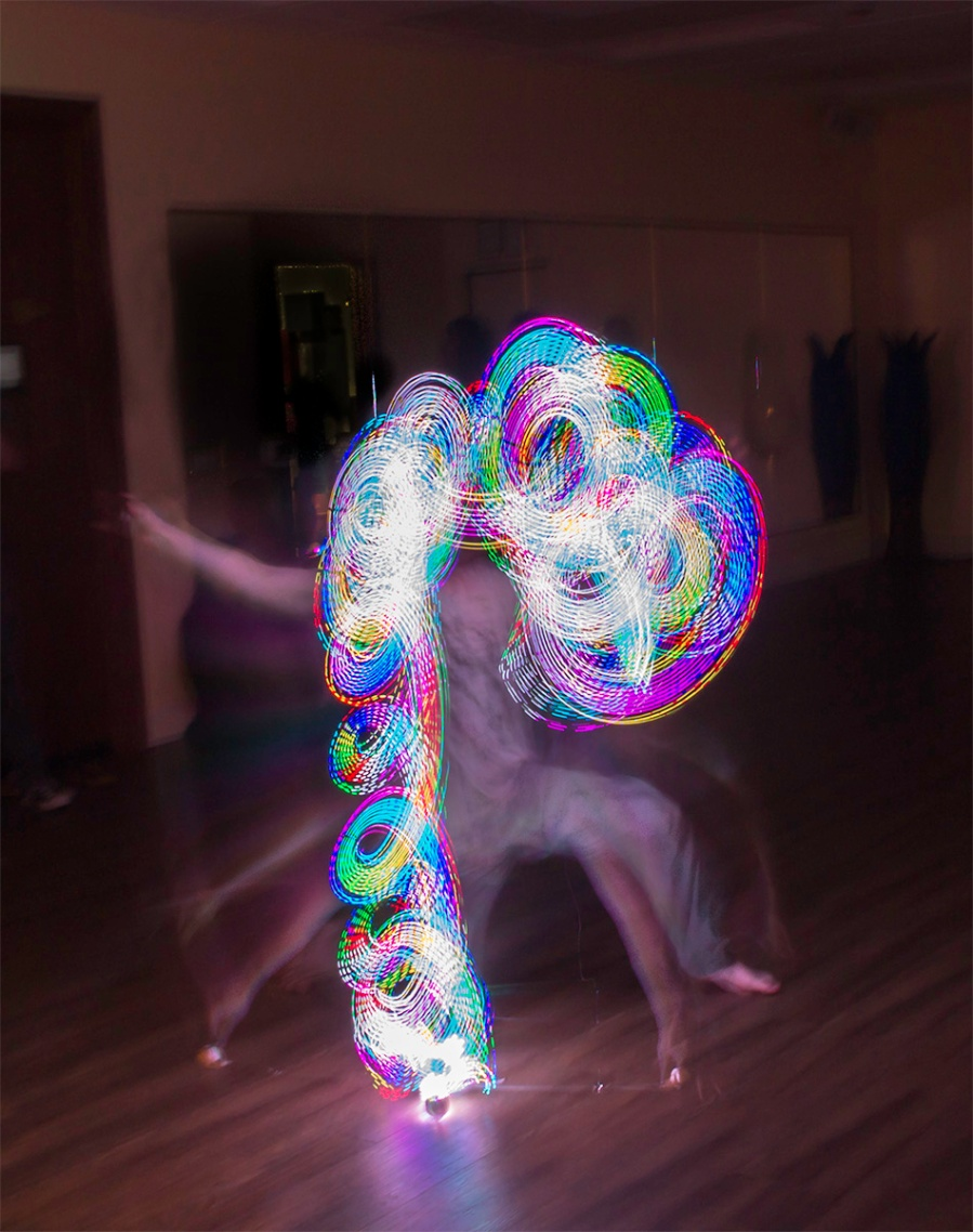 Connor Smith-McCurdy fire dancing at the Vibe Yoga Grand Opening in Santa Rosa, CA, January 31, 2015.