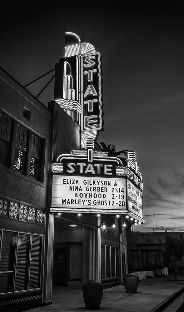 Auburn State Theater, Auburn, CA, February, 2015, https://www.facebook.com/StateTheater Also seen on Monochrome Madness #50 http://leannecolephotography.com/2015/02/18/mm50-monochrome-madness-50/