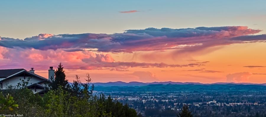 Fountaingrove Pkwy, Santa Rosa, CA, February 28, 2015. HDR
