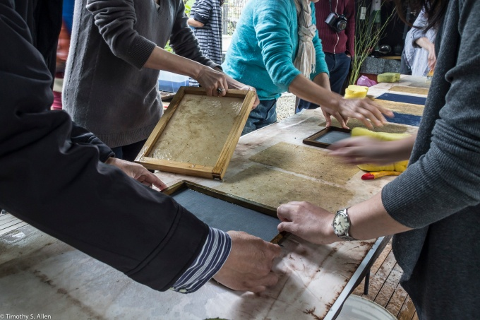 Jane Ingram Allen Teaching a Paper Making Workshop at the WuTong Foundation Residency, Zhu bei, Taiwan, March 24, 2015