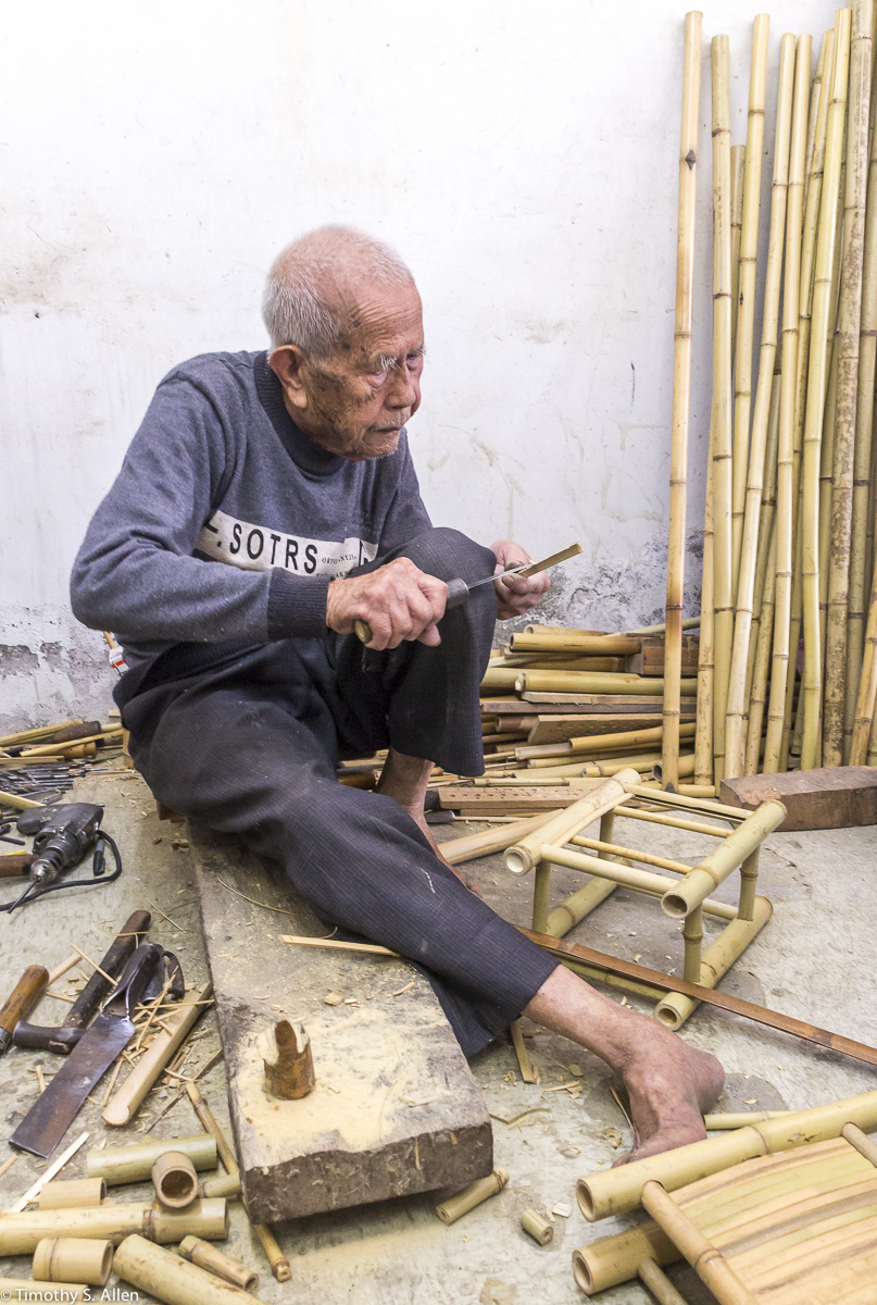Bamboo Master is 92 years old and has worked  with bamboo since he was 14 years old.  April 12, 2015