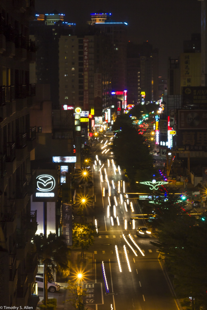 Traffic on Jinggoa Road, Taoyuan, Taiwan, April 4, 2015