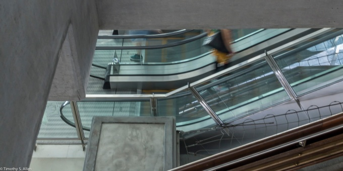 Escalator in the Taipei Fine Arts Museum, Taipei, Taiwan, April 3, 2015