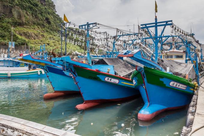 Badouri Fishing Harbor, Keelung City, Taiwan June 4, 2015