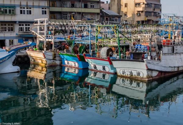 Fishing Boats Here Use Lights to Capture Squid. Photo of the Lights Can Be Seen in My https://allentimphotos2.wordpress.com/2015/06/13/lights/ Badouri Fishing Harbor, Taiwan May 29, 2015