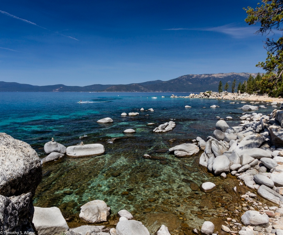 Hidden Harbor, Lake Tahoe State Park, Nevada Used Polarized Filter August 18, 2015