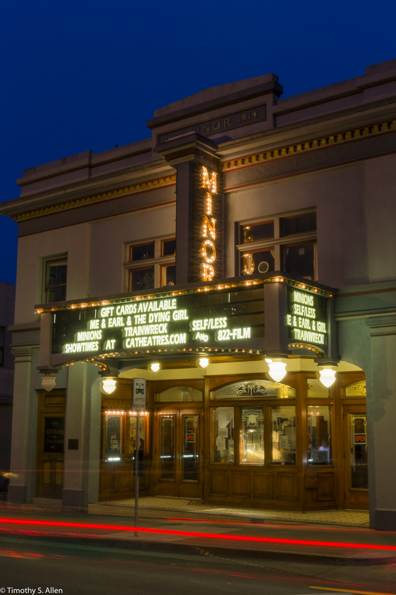 This is supposedly one of the oldest theaters in the United States that was built for the sole purpose of viewing movies. It was opened on December 3, 1914. Closed in 1938, it was reopened in the 1950's. Closed again in the 1960's, it was reopened in 1972. Contributed by Rudy Weibel